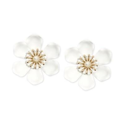 ゼンジ レディース ピアス・イヤリング アクセサリー Gold-Tone & Suede-Painted-Finish Lily Statement Earrings