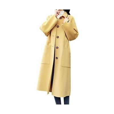 4カラー ステンカラーコート ボタン ポケット付き ロング丈 おしゃれ 通勤 冬 レディース