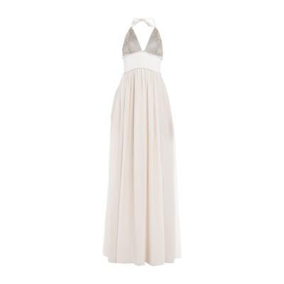 ブルネロ クチネリ BRUNELLO CUCINELLI ロングワンピース&ドレス ベージュ S シルク 100% / ポリエステル / 真鍮/ブラ