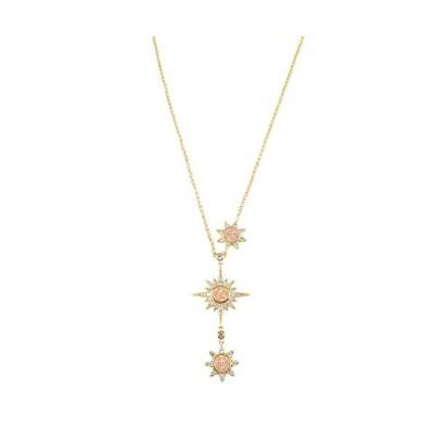 ZENGORI 1Pcs Gold Plated Champagne Titanium Drusy Pendant Necklace CZ