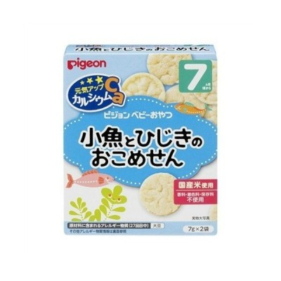 【あわせ買い2999円以上で送料無料】ピジョン 元気アップカルシウム 小魚とひじきのおこめせん 7ヶ月頃から