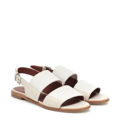 ロロピアーナ Loro Piana レディース サンダル・ミュール シューズ・靴 kalahari leather-trimmed sandals