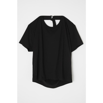 BACK STRAP LOOSE Tシャツ BLK