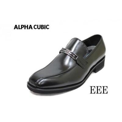 ビジネスシューズ  メンズ アルファキュービック 222黒3E靴  ALPHA CUBIC 本革ビジネス