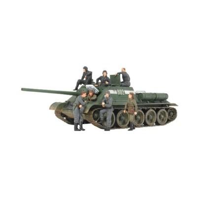 タミヤ ソビエト 襲撃砲戦車 SU-85 (ウェザリングマスター・人形7体付き) (