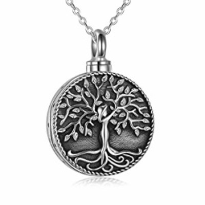 ONEFINITY Urn Necklace for Ashes Sterling Silver Tree of Life Urn Necklace for Ashes Urn Cremation Jewelry Keepsake for Women
