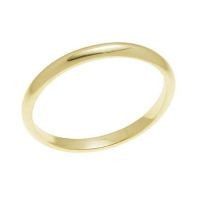 結婚指輪 マリッジリング 甲丸リング 2ミリ ペアリング K18ゴールド プロポーズ甲丸リング・2mm幅・K18ゴールド