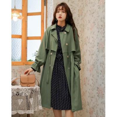 2019年秋の新作発売*韓国ファッションコレクション ウインドブレーカー 女性 中・長セクション レトロ スリム コート