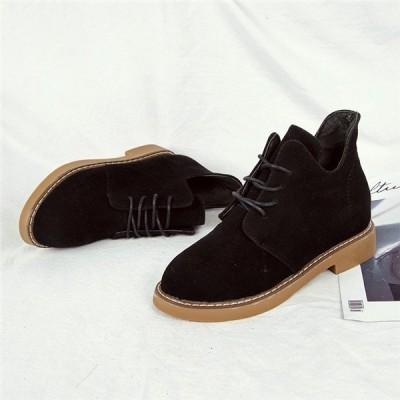 店長おすすめ 靴 ブーツ 厚底ブーツ ショートブーツ レディース レースアップ ボリュームソールブーツ 裏ボア レースアップ ショート 幅広