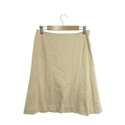 プロポーション ボディドレッシング PROPORTION BODY DRESSING スカート 台形 ひざ丈 ジップフライ 3 ベージュ /M2O26 レディース【中古】