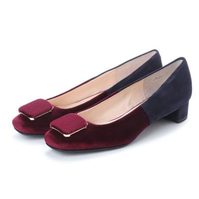 アンタイトル シューズ UNTITLED shoes パンプス (ワインベルベットコンビ)