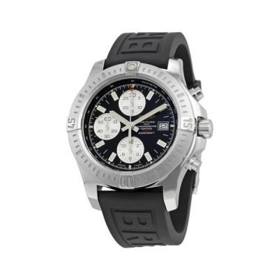 ブライトリング Colt クロノグラフ  オートマチック ブラック ダイヤル ブラック ラバー メンズ 腕時計