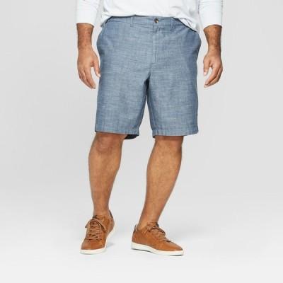 """グッドフェロー Goodfellow & Co メンズ ショートパンツ 大きいサイズ ボトムス・パンツ Big & Tall 10.5"""" Flat Front Shorts - Blue"""