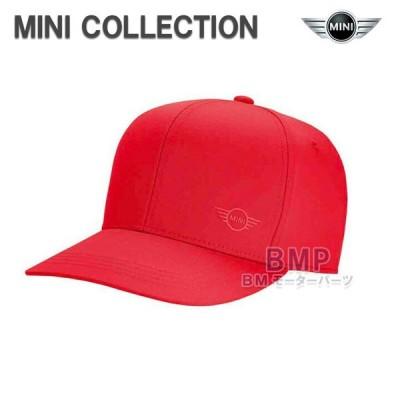 BMW MINI 純正 MINI COLLECTION ロゴ キャップ コーラルレッド ユニセックス 帽子 コレクション