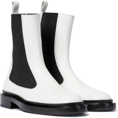 ジル サンダー Jil Sander レディース ブーツ ショートブーツ シューズ・靴 leather ankle boots Open White
