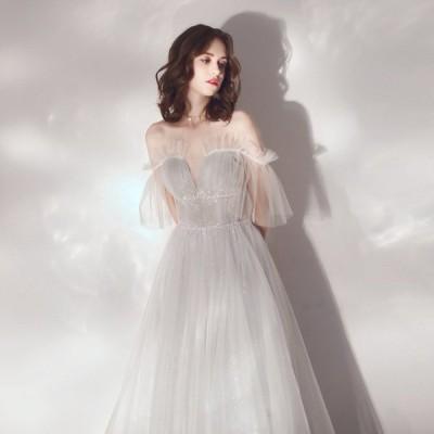 花嫁 ブライダルドレス ブライダル 結婚式 披露宴 パーティー 上品 綺麗 安い 可愛い 結婚式ドレス ロング