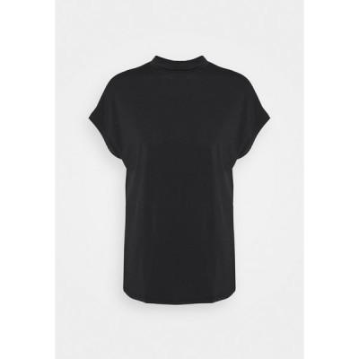 ヴィラ Tシャツ レディース トップス VICATHRINE FUNNEL NECK - Basic T-shirt - black