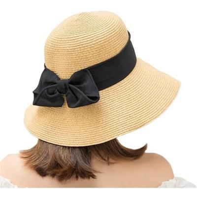 レディース-リボン付き-UVカット-日焼け防止-折りたたみ