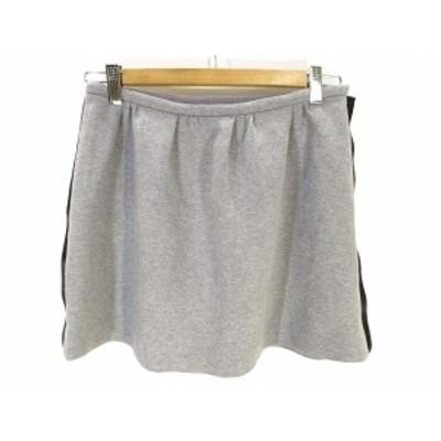 【中古】ダブルスタンダードクロージング ダブスタ DOUBLE STANDARD CLOTHING 美品 スウェット調 スカート 36 グレー
