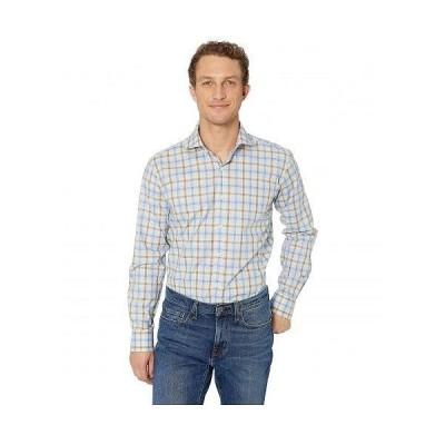 Bugatchi ブガッティ メンズ 男性用 ファッション ボタンシャツ Plaid Long Sleeve Shaped Fit Button-Up Shirt - Sand