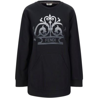 フェンディ FENDI スウェットシャツ ブラック XS コットン 100% / ポリウレタン / レーヨン スウェットシャツ
