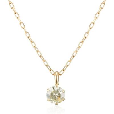 [ディーコレクション] D-COLLECTION 18金イエローゴールドダイヤモンドネックレス 0.1ct DS20095YG