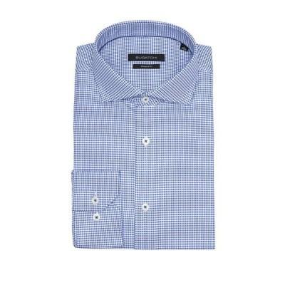 ブガッチ メンズ シャツ トップス Mini Check Shaped Fit Shirt CLASSIC BLUE