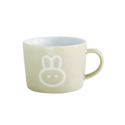 スパイス マグカップ プチママン 陶器 コップ 子供用 ラビット ベージュ 約口径8.5×幅(持ち手含)10.5×高さ6.5cm SFPY1403