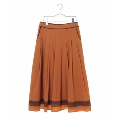 HIROKO BIS / ヒロコビス 【洗える】エキゾチック刺繍タックフレアースカート