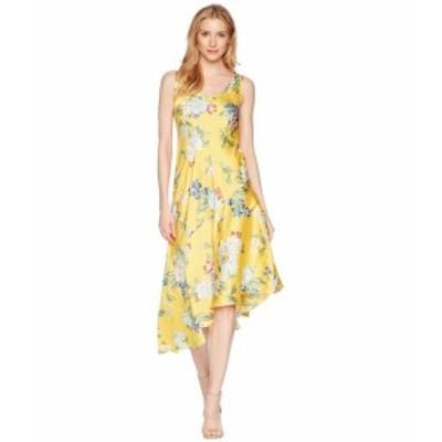 Donna Morgan ドナモーガン ドレス 一般 Sleeveless Printed Slip Dress with Asymmetrical Hemline