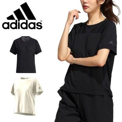 アディダス 半袖 Tシャツ adidas レディース W TECH TEE トレーニング ウェア 2021春新作 JKO01