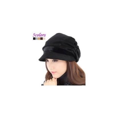 キャスケット レディースキャップ 帽子 無地 ベレー帽 つば付き 防寒 あったか ハット 大きいサイズ ファッション 女性用 おしゃれ