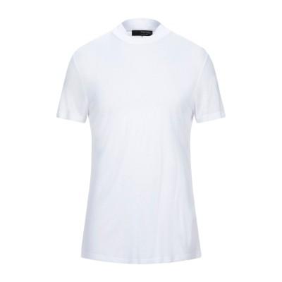 トムレベル TOM REBL T シャツ ホワイト S レーヨン 100% T シャツ