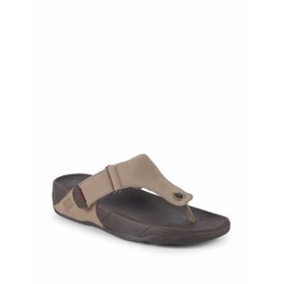フィットフロップ メンズ サンダル スリッポン Trakk II Leather Footbed Sandals