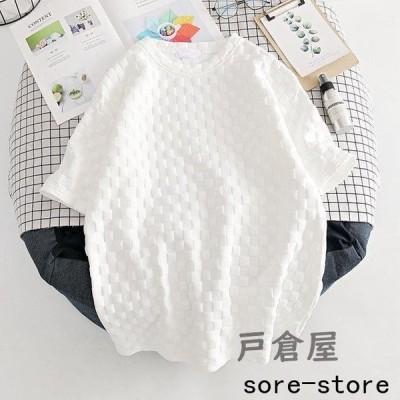 半袖Tシャツ レディース Tシャツ ゆったり カットソー 半袖 サマーTシャツ 白T 夏 ラウンドネック ゆったりTシャツ 夏Tシャツ 清潔感 2021