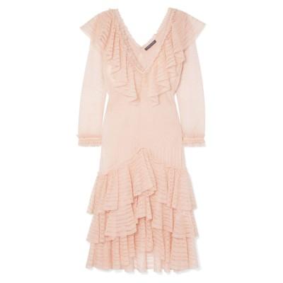 アレキサンダー マックイーン ALEXANDER MCQUEEN ミニワンピース&ドレス ライトピンク S シルク 100% / ナイロン / ポリ