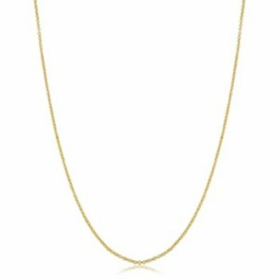 14k Yellow Gold Filled Cable Pendant Chain Necklace (1.3 mm, 20 inch)