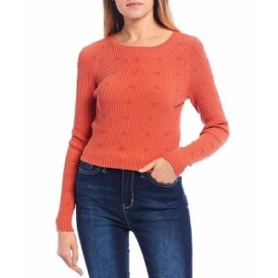 オニール レディース パーカー・スウェット アウター Long-Sleeve Sylvia Pull-Over Ribbed Knit Sweater Mecca Orange
