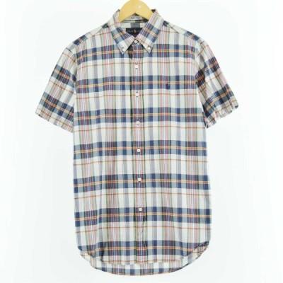ラルフローレン 半袖 ボタンダウンチェックシャツ M /eaa050563