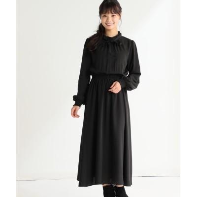 【ハニーズ】 ロングワンピース レディース ブラック M Honeys