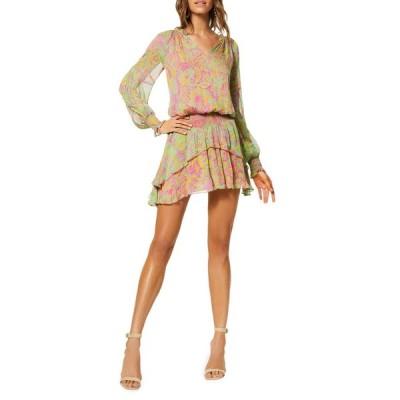 レイミー ブルック レディース ワンピース トップス Rosanna Printed Long-Sleeve Dress