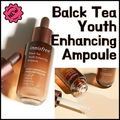 [innisfree]★1回の使用だけで効果が感じられる★BLACK TEA ENHANCING AMPOULE 30ml/DiA