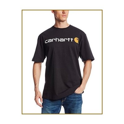 Carhartt メンズ シグネチャーロゴ 半袖ミッドウェイトジャージ Tシャツ K195 US サイズ: Large カラー: ブラッ