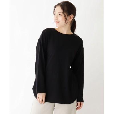 WORLD ONLINE STORE SELECT / 【抗菌防臭】シンプルロングTシャツ WOMEN トップス > Tシャツ/カットソー