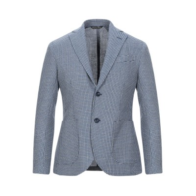 GAETANO AIELLO テーラードジャケット アジュールブルー 46 バージンウール 56% / リネン 44% テーラードジャケット