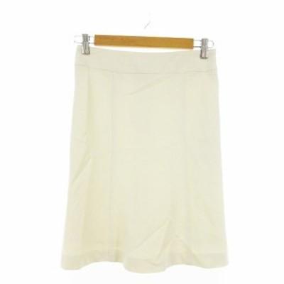 【中古】未使用品 エスピーアール S.P.R スカート タイト ひざ丈 36 白 ホワイト /AAM29 レディース