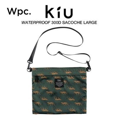 KiU サコッシュ ショルダーバッグ 撥水防水 300D サコッシュラージ A4サイズ収納 レオパード Wpc. ワールドパーティー K109-175