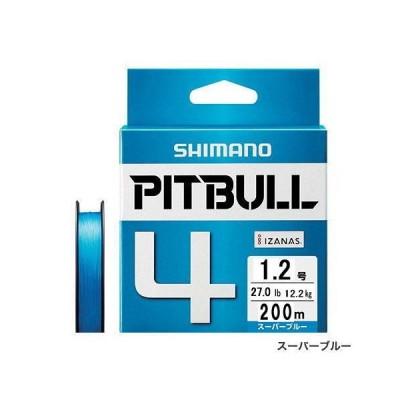シマノ ピットブル 4 PL-M64R 200M スーパーブルー 1.2号 [PEライン]