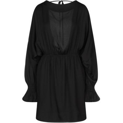 BAUM UND PFERDGARTEN ミニワンピース&ドレス ブラック 34 レーヨン 100% ミニワンピース&ドレス
