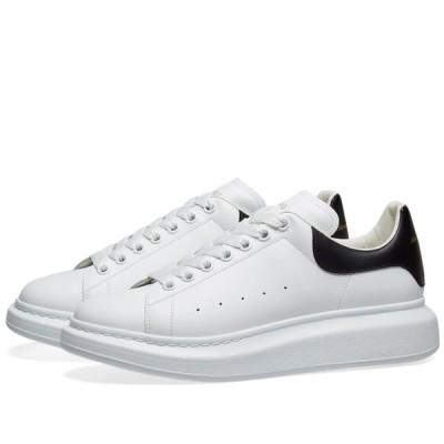 アレキサンダー マックイーン Alexander McQueen メンズ スニーカー ウェッジソール シューズ・靴 Heel Tab Wedge Sole Sneaker White/Black